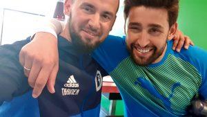 Hysen Hasani und Karim Haggui